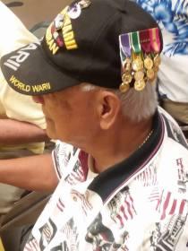 CC Veterans Museum medals on hat