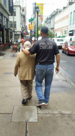 Chaplain Bob Ossler. Walking my friend to a doctor's appointment in Philadelphia