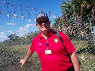 Chaplain Bob Ossler at Parkland, FL 2018 shooting site